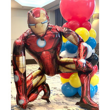 """Большой 3D человеком-пауком; Железным человеком; Воздушный шарик из фольги в форме флеш-накопителей """"Мстители"""" супергероя Globos для детей с д..."""