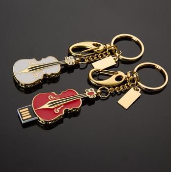 Custom logo creative violin metal USB2.0 jewelry pendant