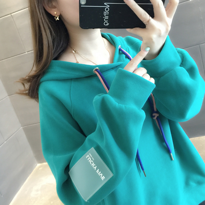 2019 Hip-hop Loose Hoodies Womens Sweatshirts Harajuku Hoodie Sweatshirt Hooded Pullover Tops Blouse With Pocket Fashion Clothes