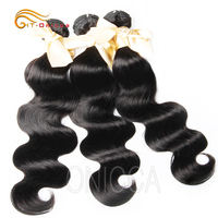 Brazillian Hair Body Wave Weft 3 Bundles For Lucky Queen Remy Hair Extensions Natural Color 8 28 Inches Double Weaving Htonicca