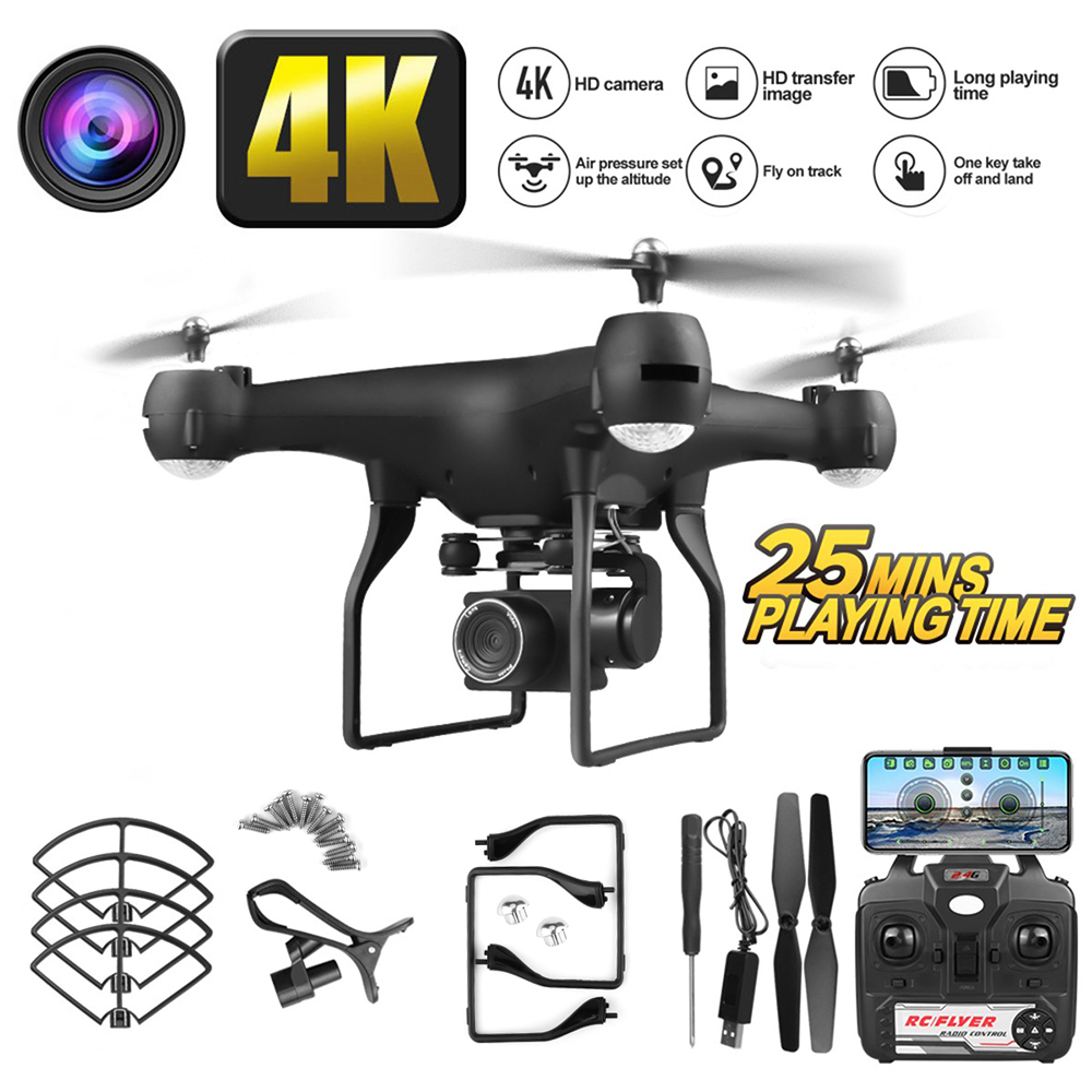 F68 <font><b>Drone</b></font> 4k HD 1080p WiFi <font><b>Fpv</b></font> <font><b>Drone</b></font> Height Quadcopter Servo Camera <font><b>Rc</b></font> Helicopter One-button Landing <font><b>Drone</b></font> With Camera GiftS image