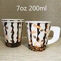 100 шт Высокое качество креативные одноразовые чашки 200 мл 250 мл вода молоко чай кофе бумажные стаканчики для вечеринок Питьевая чашка с ручко...