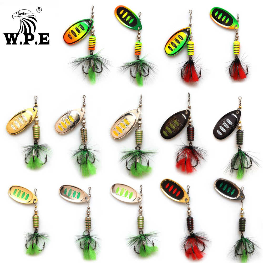 W.P.E KOMODO SPINNER Lure 2pcs 7.5g/12.5g/16.5g Full Metal Bass Fishing Lureเหยื่อล่อตกปลาWobbler Pesca