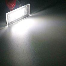 2 pçs do carro lanterna traseira 18 led luz da placa de licença para bmw mini cooper um r50 s r53 convertible r52 acessório luzes