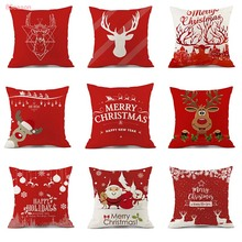 Christmas pillow cover stag deer Xmas Cushion Cover Woodland Animal Decor Decoration Stag