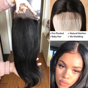 Image 5 - 28 30 40 zoll Peruanische Haar Bundles Gerade 3 4 Bundles Mit Verschluss Menschliches Haar Extensions Welle nern und 5x5 Spitze Schließung