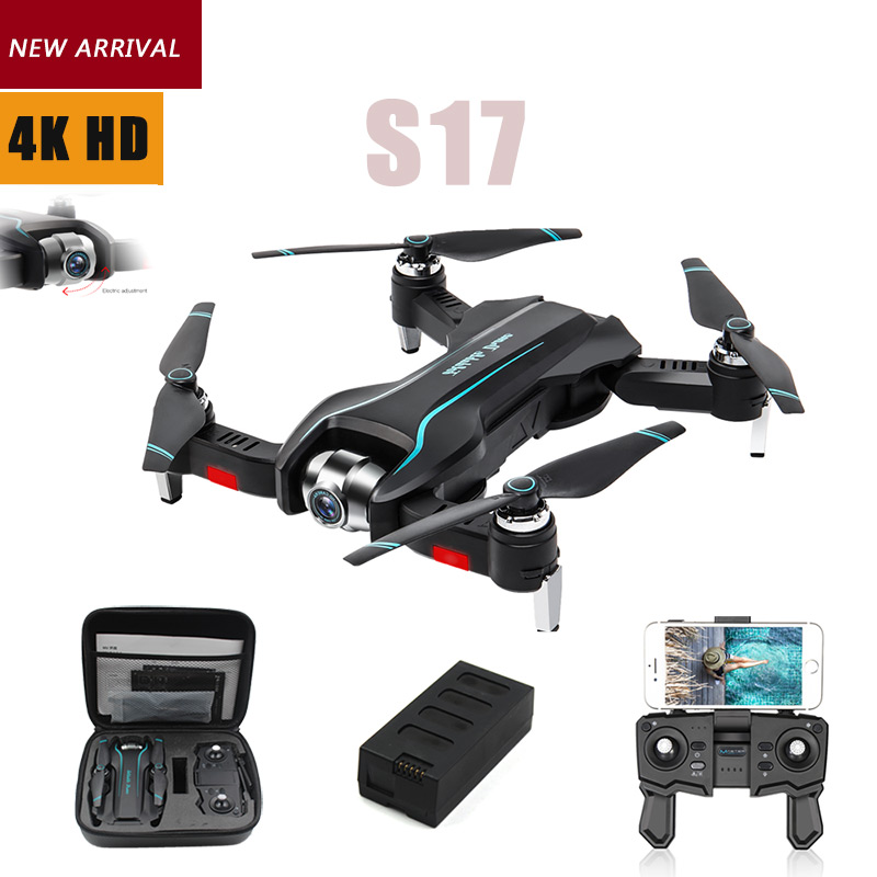 S17 <font><b>Drone</b></font> 4k HD Camera GPS <font><b>Drone</b></font> WiFi <font><b>FPV</b></font> 1080P No Signal Return RC Helicopter Flight 15 Minutes Quadcopter <font><b>Drone</b></font> with Camera image
