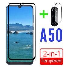2 в 1 Защитное стекло для samsung galaxy a50 a 50 50a galaxy a50 Защитная пленка для экрана с объективом камеры армированное закаленное стекло