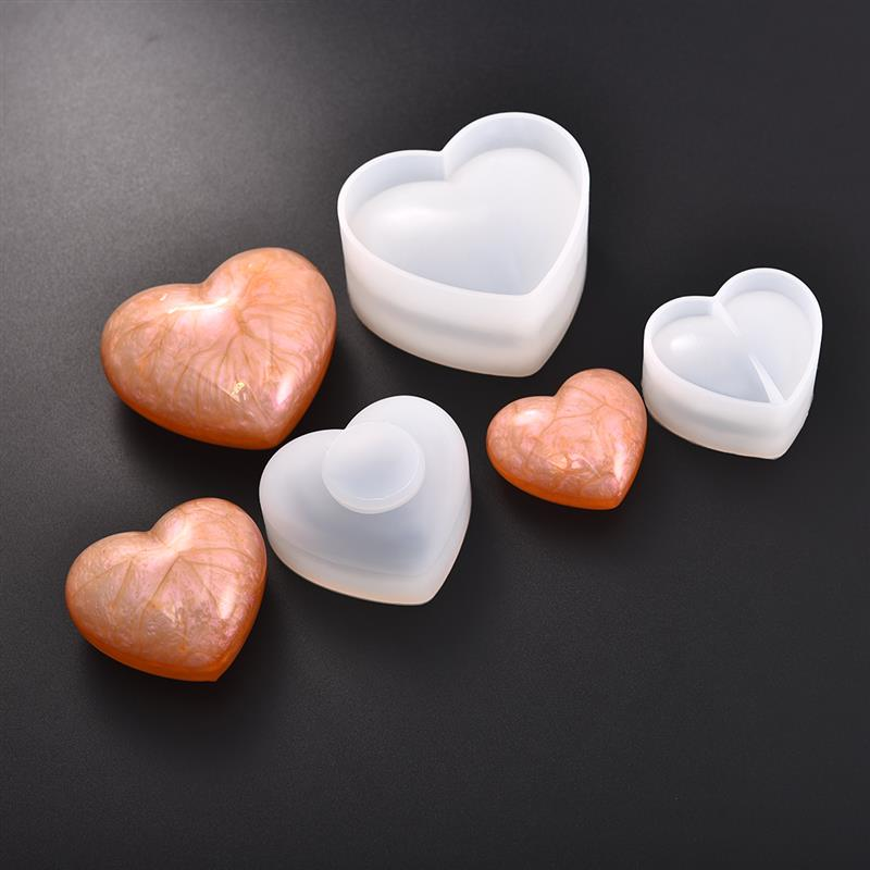 Resin Jewelry Mold 3D Diamond Love Heart Shaped Mould UV Epoxy For Jewelry Making Tools