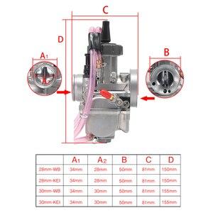 Image 2 - ZSDTRP carburateur universel 28/30mm PWK, compatible avec Keihin Mikuni Koso, pour ATV Suzuki Yamaha Honda
