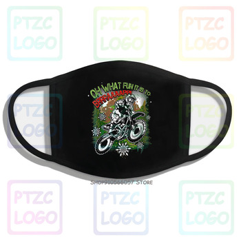 Nice Oh What Fun Motocross Dirt Bike Rider Biker Christmas Top Mouth Face Mask