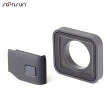 SOONSUN Schutzhülle Objektiv Ersatz Seite Tür Reparatur Teile USB C Mini HDMI Port Seite Abdeckung für GoPro HERO 7 6 5 schwarz Kamera