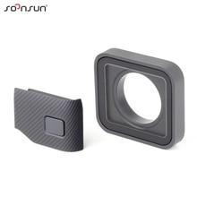 SOONSUN ป้องกันเลนส์ด้านข้างอะไหล่ซ่อม USB C พอร์ต Mini HDMI ด้านข้างสำหรับ GoPro HERO 7 6 5 กล้องสีดำ
