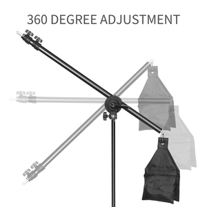 Image 2 - Photo Studio Adjustable Cantilever Stand Cross Arm With Sand Bag Pivot Clamp Use For Light Stand Accessories Extension Rod 135CM