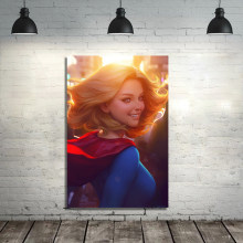 Supergirl Xm MS Marvel De Batgirls Canvas Schilderij Moderne Movie Poster Wall Art Foto Canvas Print Woonkamer Home Decor(China)