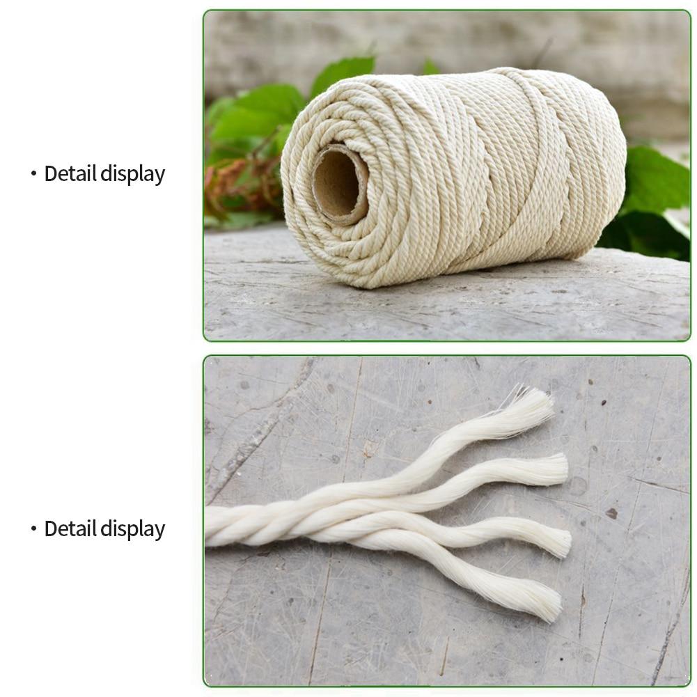 Купить хлопковый шнур 2 мм 3 хлопковый для макраме настенный подвесной