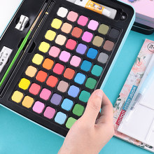48 Colors Watercolor Paints High Quality Portable Travel Solid Pigment Set With Watercolor Brush Pen For Painting Art Supplies