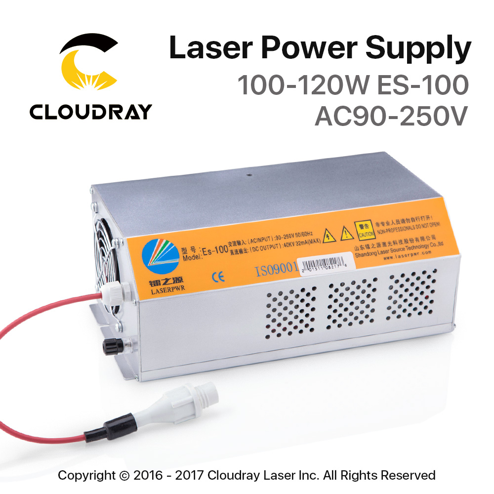 Cloudray 100-120W HY-Es100 Es Series CO2 Laser Power Supply For CO2 Laser Engraving Cutting Machine