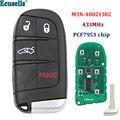 Дистанционный смарт ключ-брелок с 4 кнопками  3 + 1 кнопка  433 МГц  PCF7953  чип для Fiat 500 500L 500X  для Jeep Compass Renegade  M3N-40821302
