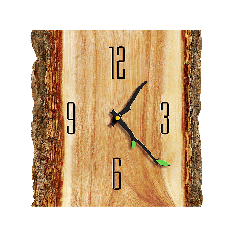 Wall Clock Simple Modern Design Wooden Clocks For Bedroom Wood Wall Watch Home Decor Silent