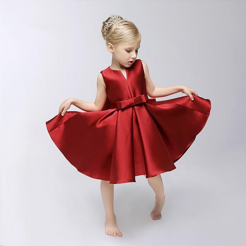 CHILDREN'S Full Dress Girls Princess Skirt Red Girls Dresses Of Bride Fellow Kids Children Section Piano Catwalks Costume
