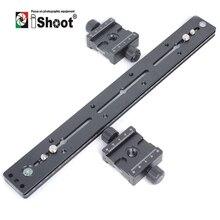 IShoot 350 мм Головка штатива быстросъемная пластина для DSLR камеры штатив пластина 3D стерео Pro монопод стереоскопическая двойная камера s QS-350