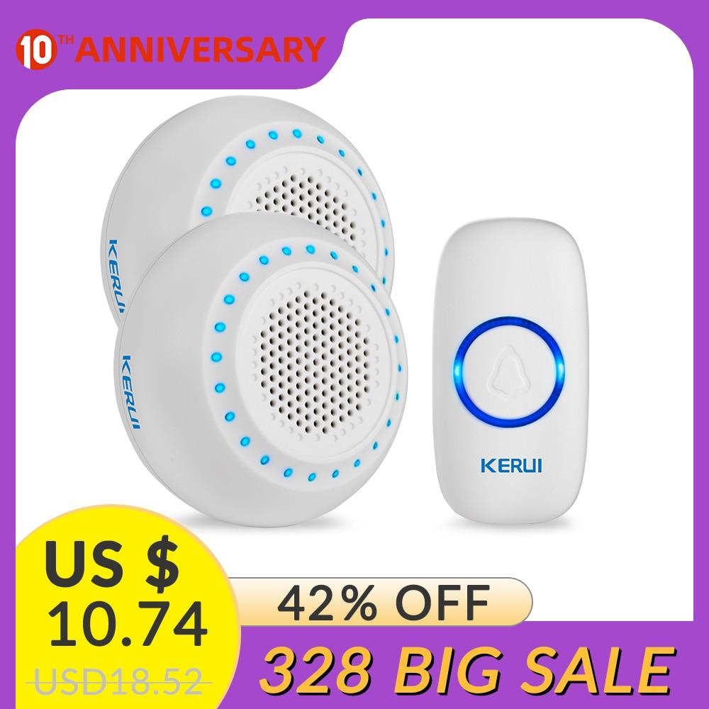 KERUI M523 Safety Protection Wireless Doorbell Waterproof Button Colorful Atmosphere Lights Memory Function Smart Doorbell