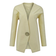 Women Blazer Autumn Warm Long Sleeve Slim Coat Outwear Suits Fashion Casual V neck Long Blazers