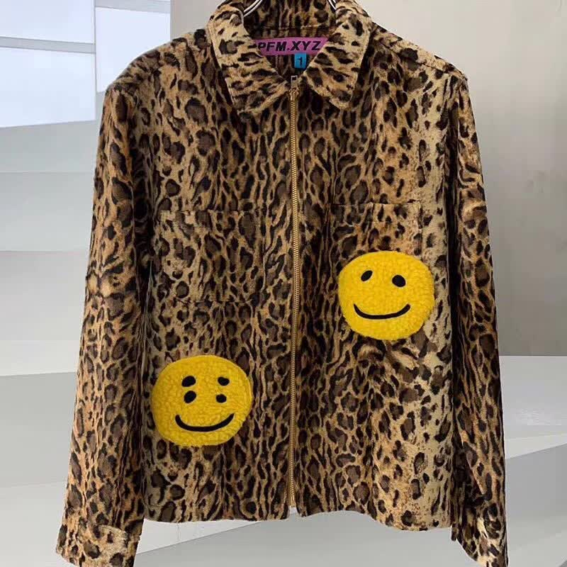 2020 New CPFM XYZ Hoodie Leopard smiley Hoodies Men Women High Quality 1:1 Oversize CPFM Sweatshirts zipper Hip Hop