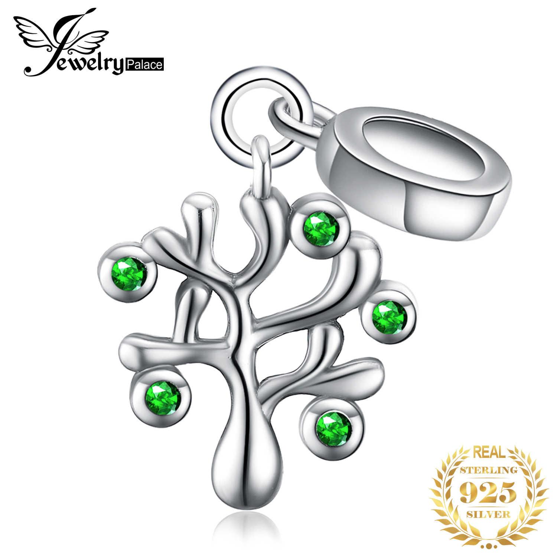 JewelryPalace ชีวิตต้นไม้ 925 เงินสเตอร์ลิงลูกปัดเงิน 925 สำหรับสร้อยข้อมือเงิน 925 เครื่องประดับทำ