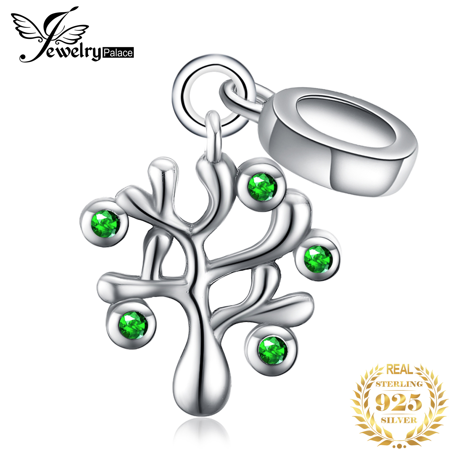 JewelryPalace Life Of Tree 925 Sterling Silver Beads Charms Silver 925 Original For Bracelet Silver 925 Original Jewelry Making