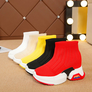 Image 2 - Exquisite high elastic stockings womens boots platform sneakers high to help socks shoes breathable womens vulcanized shoes