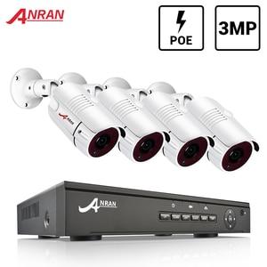 Image 1 - ANRAN מעקב מערכת 3MP CCTV מצלמה מערכת POE NVR ערכת Onvif אבטחת HD IP מצלמה חיצוני עמיד למים מצלמה ערכת DVR