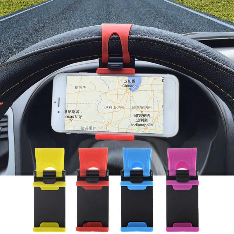 Profesional Baru Kemudi Mobil Mount Pemegang ABS Band Ponsel Pemegang Telepon Mobil Dudukan untuk iPhone untuk IPod MP4 GPS untuk Huawei