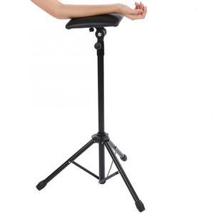 Image 3 - Dövme kol dayama Tripod standı ile ayarlanabilir yükseklik yumuşak sünger ped taşınabilir dövme kol bacak dayanağı dövme sanatı Salon kol dayama masa