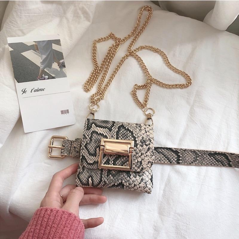 2020 Spring Leather Bag High Fashion Stylish Belt Bag Trendy New Design Solid All-match Waist Bag For Women Female Tide ZK993