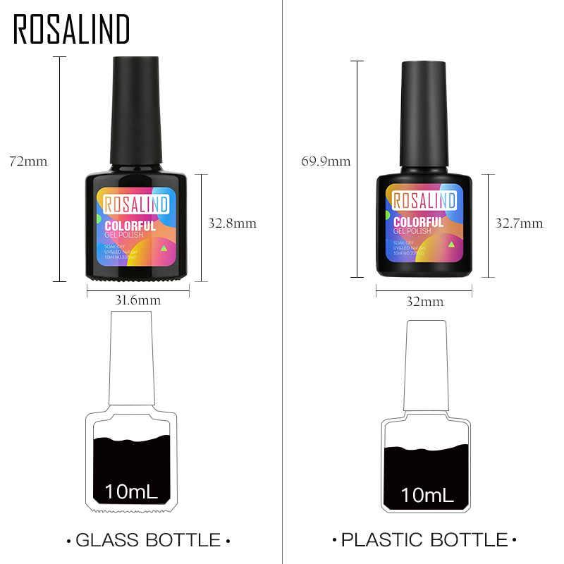 ROSALIND 10Mlเจลเล็บUV UVเล็บสีเล็บสำหรับเล็บLacquer Vernisกึ่งถาวรAcryl Hybrid GelเคลือบTop Coat