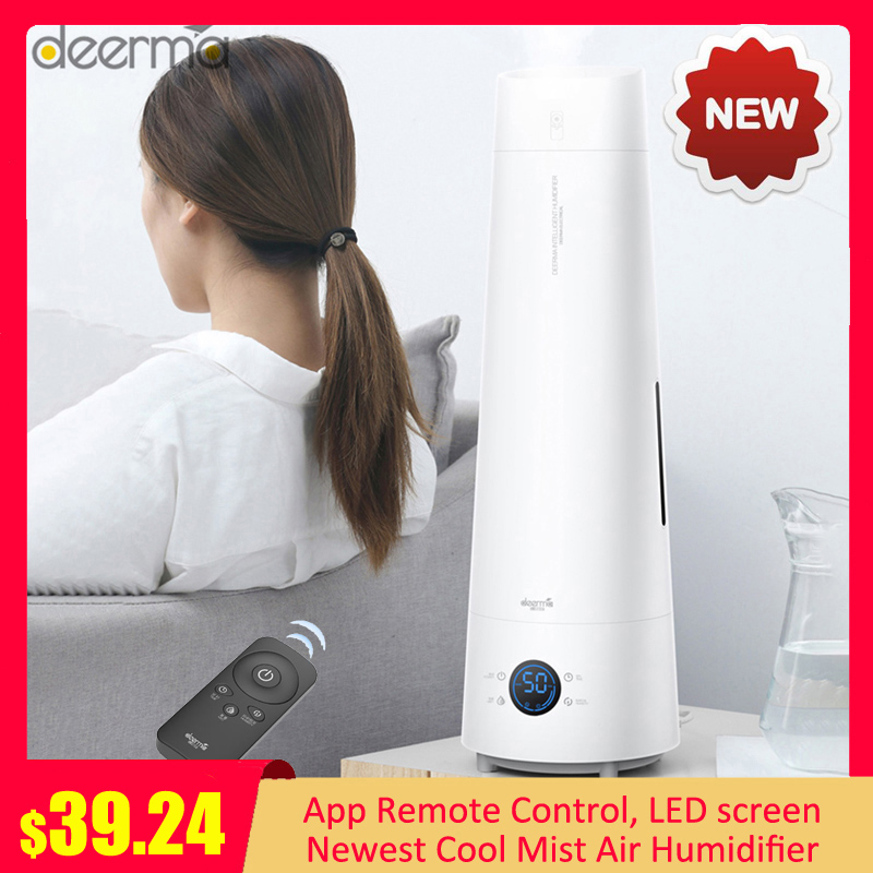 2020 Deerma LD220 4L Smart Air Humidifier Touch-screen Standing Cool Mist Aromatherapy Essential Oil Humidifier Remote Control