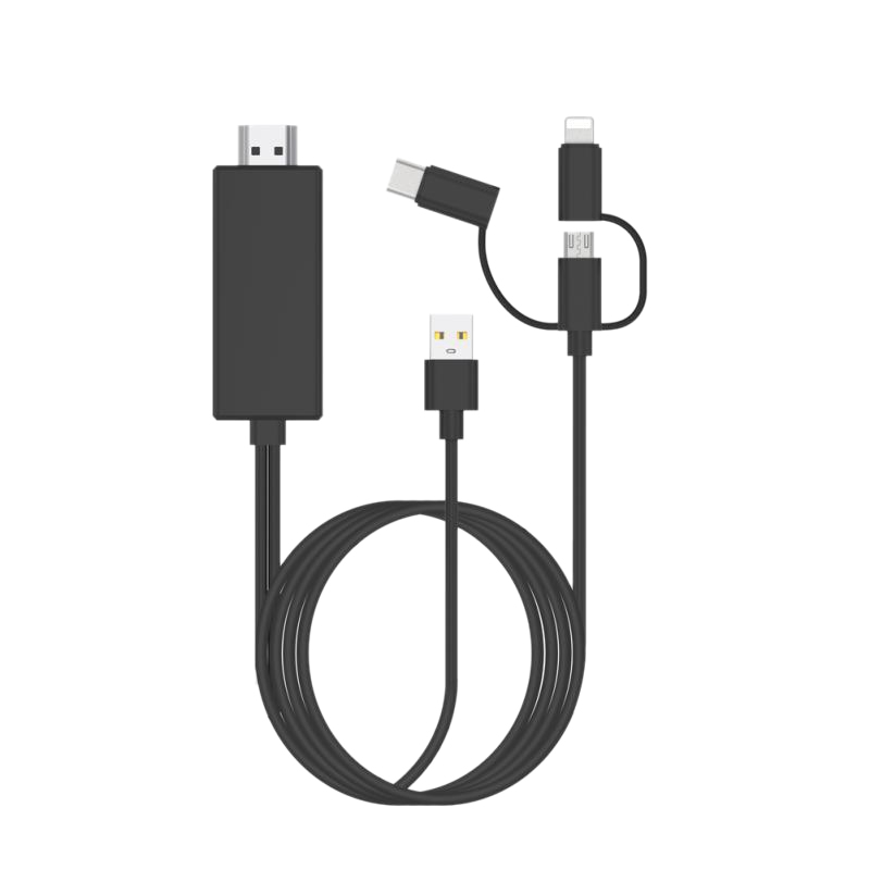 Hot USB To HDMI Mirror Cast Cable with Audio MHL for IPhone IPad Apple interface Android Phone To LED TV Micro-USB Type C To HDM