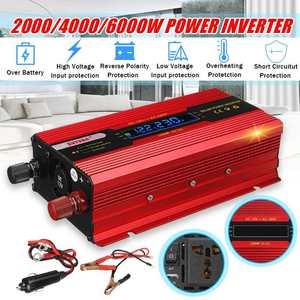 MAX 6000W Solar Inverter DC 12V to AC 220V/110V Power Inverter Modified Sine Wave Voltage Convertor Transformer + LCD Display