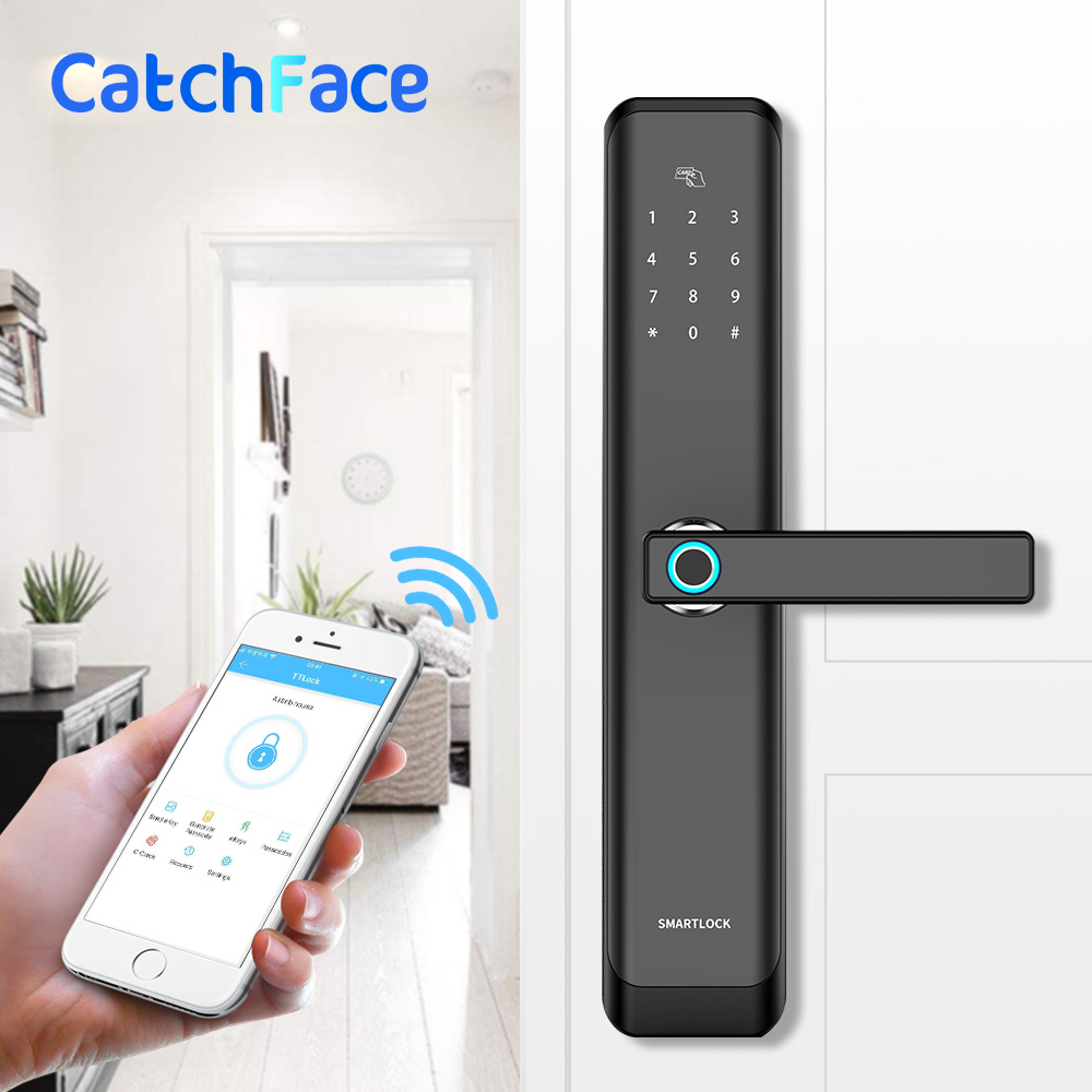 Biometric Electronic Fingerprint Door Lock Kyeless Smart Digital Safe Fingerprint, Code, Key Touch Screen Digital Password Lock