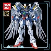 BANDAI PG 1/60 WING ZERO XXXG 00W0 Wing Gundam Zero Assembly Model with Bracket Action Toy Figures Gift