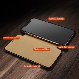 Image 4 - Flip Lichee Muster Rindsleder Fall Für iphone Xs 11 Pro Max MYL 32W Luxus Folio Leder Fall Abdeckung Für iphone XR 8 Plus