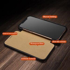 Image 4 - Flip Lichee Patroon Rundleer Case Voor Iphone Xs 11 Pro Max MYL 32W Luxe Folio Leather Case Cover Voor Iphone xr 8 Plus