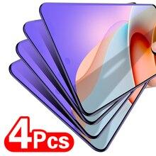 4Pcs מלא כיסוי מזג זכוכית עבור Xiaomi Redmi 9A 8A הערה 10 9 9S 8 8T פרו מקס זכוכית Screem מגן עבור POCO M3 X3 NFC זכוכית