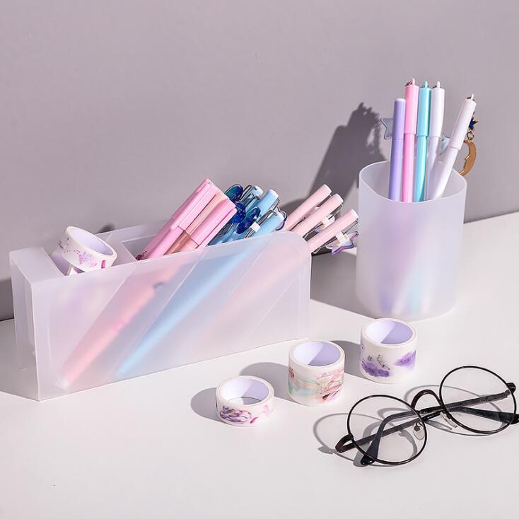 Large Capacity Desk Pen Holder   Storage Box Desktop Organizer Stand Case  5