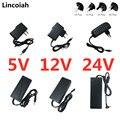 Адаптер 5 В, 12 В, 24 В, 1 А, 2 А, 3 А, 5 А, 6 А, 8 А, 10 А, адаптер трансформатора 5, 12, 24 В, адаптер для освещения, светодиодной ленты, камеры видеонаблюдени...