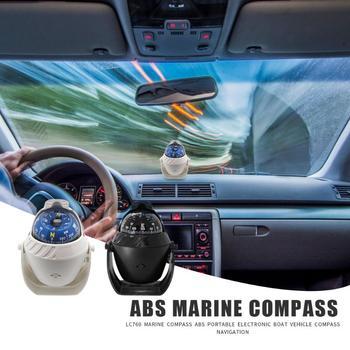LC760 mar marino brújula ABS electrónico portátil Vehículo de barco al aire libre Brújula de navegación para suministros de coche al aire libre