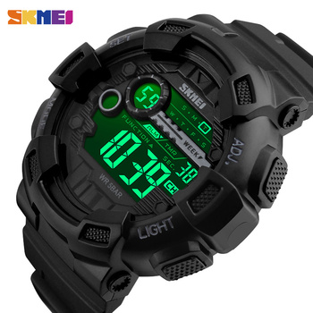 SKMEI Outdoor Sport Watch Men Multifunction 5Bar Waterproof PU Strap LED Display Watches Chrono Digital Watch reloj hombre 1243