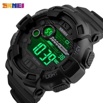 SKMEI Outdoor Sport Watch Men Multifunction 5Bar Waterproof PU Strap LED Display Watches Chrono Digital reloj hombre 1243 - discount item  20% OFF Men's Watches